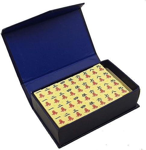 calidad garantizada No. 01 BY Mah Jong Mahjong Jongg Majong Travel Handcuffs Handcuffs Handcuffs Pocket Mini Melamine Mahjong 144 Cards Portable Family Leisure Entertainment Puzzle Tourism (blanco)  muchas sorpresas