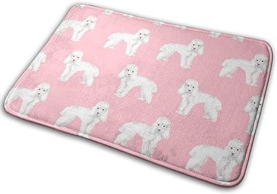 """Toy Poodle Dog Pattern Dog Pink_29105 Doormat Entrance Mat Floor Mat Rug Indoor/Outdoor/Front Door/Bathroom Mats Rubber Non Slip 23.6"""" X 15.8"""""""