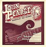 John Pearse Strings® 2110M Jeu de Cordes pour Mandoline - 80/20 Bronze Wound - Loop End - Medium Gauge Customs