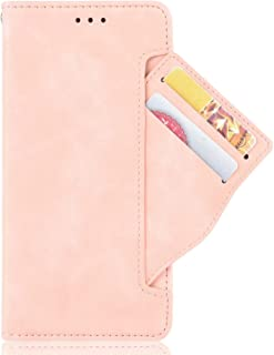 RanTuo Phone Case for vivo V21 5G, with Card Slots, Bracket, TPU + PU Leather, Flip Case Cover for vivo V21 5G.(Pink)