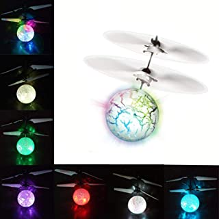 UTTORA RC Flying Ball Toy, Children's Remote Control Toy boy and Girl Gifts can be Charged to Light up The Fans, Your Drone Infrared Induction Helicopter Built-in Shiny LED Lighting