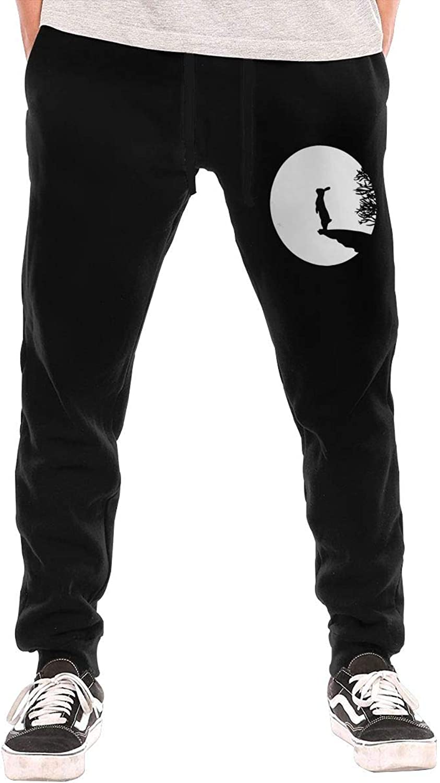 NIOPC MIJFOP Men's Bunny Moon Sport Joggers Workout Sweat Pants