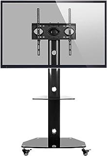 comprar comparacion RFIVER Soporte TV Móvil de Suelo con Ruedas para Television de 27 a 55 Pulgadas con Altura Ajustable y Giratorio TF9001