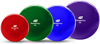 Fitness Alley The Weighted Pilates Balls/Fitness Toning Balls/Medicine Ball PVC Coated (Single)
