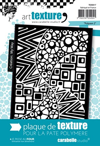 Carabelle Studio Polyzen 2 Texture, Gomma, Bianco/Trasparente, 9x13.5x1 cm