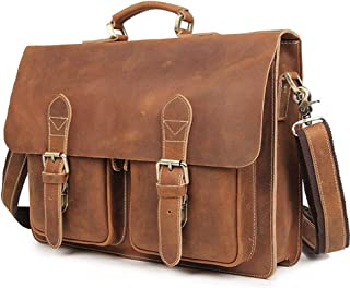 Laptop Bag,Briefcase Satchel Bag,15Inch Laptop Rustic Vintage Leather Messenger Bag, Buiness Bags