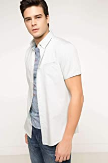 DeFacto Kısa Kollu Modern Fit Gömlek