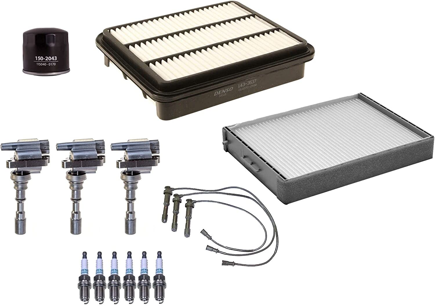 Filters Wires 3 Ignition Coils 6 Up Spark half Compa kit Plugs Max 77% OFF Tune