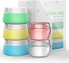 Travel Accessories Bottles Containers Sets, Silicone & PP Cream Jars for toiletries, Compact Travel Size Containers with Hard Sealed Lids for Face Hand Body Cream (5 Pieces)