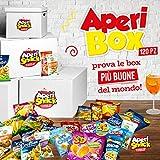 APERIBOX 120 - AP18.001.05 Fantastica box piena di snack salati, stuzzichini per aperitivo e frutta secca. Almeno 120 prodotti, ottima idea regalo! Oltre 40 prodotti diversi, Provali Ora.