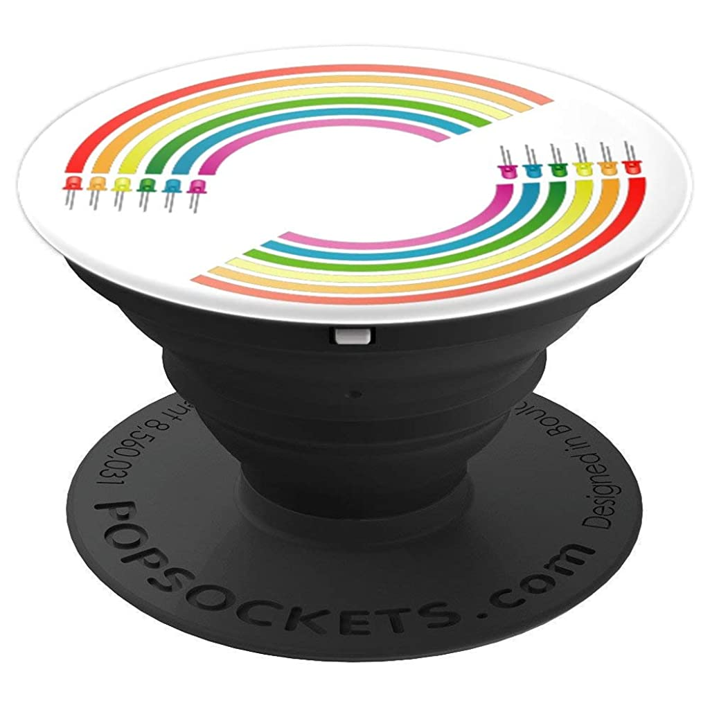 Rainbow LED Pride Month LGBTQ Electronic engineering Queer  PopSockets Grip and Stand for Phones and Tablets