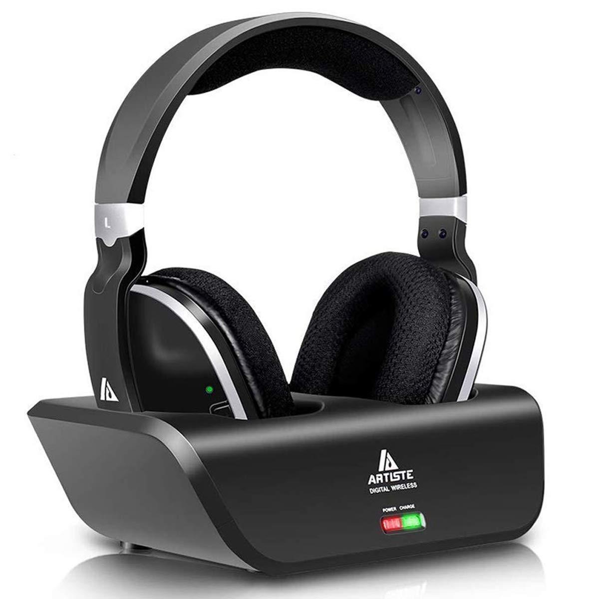 Wireless Headphones Transmitter Listening Digital Rechargeable