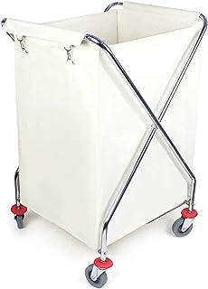 WPJ Landerie Trousse de chariot de buanderie Chariot sur roues, trieuse de buanderie pliante pour hôtel Restaurant Salle d...