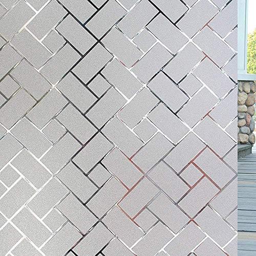 LMKJ Fenster-Abdeckfolie, mattiert, elektrostatische Sichtschutzfolie, Glasdekorfolie, Glasaufkleber zum Blockieren von UV-Strahlen, A4, 40 x 100 cm