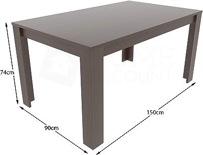Vida Designs Medina Table de Salle à Manger rectangulaire en Bois MDF 6 Places Noyer