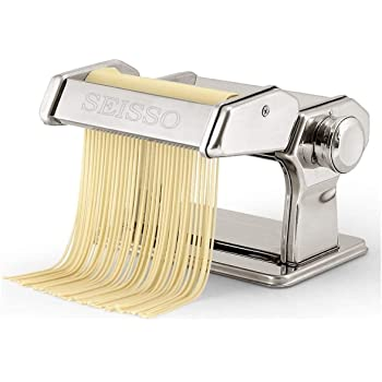 DEWEL製麺機 家庭用 家製パスタ そば打ち機 うどん 餃子など 分離式  厚さ幅調節可能 2種類カッター