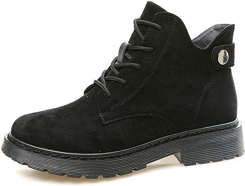 HPLL Chaussure Bottes, Bottes, Bottes de Locomotive Noires, Shorts Shorts Plats pour Femmes, Talons épais  tous les produits sont spéciaux
