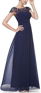 QUZI DRESS Women's Vintage Sleeveless Evening Dress Long Chiffon Bridesmaid Dresses for Wedding QZ004