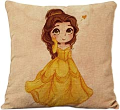 Brown Rapunzel Cotton Linen Square Throw Pillow Case Cushion Cover child's gift