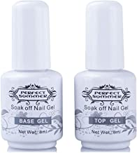 Perfect Summer Top Coat Base Gel Nail Set Clear Color Soak Off UV LED Manicure For Any Gel Nail Polish Long Lasting 8ML