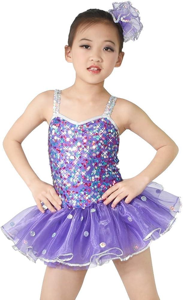 MiDee Dance OFFer Costume Lovely Party Sequin Regular dealer Camisole for Dress Girls