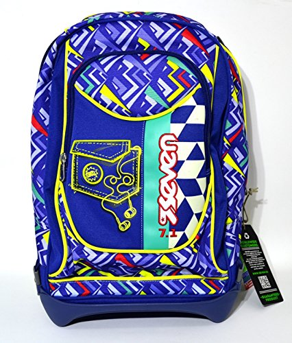 Rucksack Schule Trolley Seven New Jack abnehmbaren 35lt Widget blau