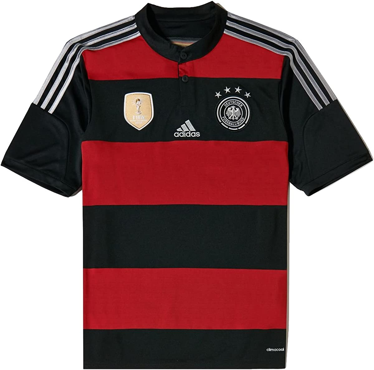 adidas Germany Away Youth Soccer Jersey (XL) Red/Black