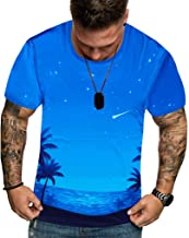 Men Summer New Full 3D Printed T Shirt Plus Size M-3XL Cool Printing Top Blouse