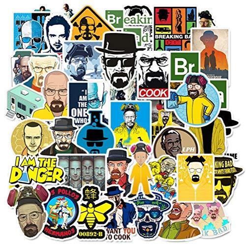 QIANGWEI 50 Stickers Creatief Ontwerp Graffiti Laptop Koffer Koelkast Snowboard Pvc Gitaar Diy
