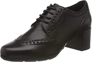 Geox D New Annya Mid A, Oxfords Femme
