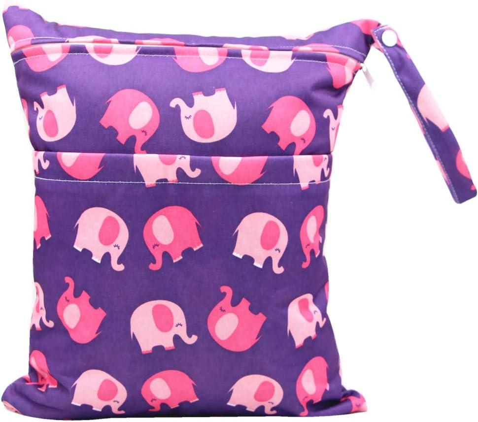 Nappy Bag Waterproof Washable Hanging Large Diaper Bag Organizer Pouch Double Zipper Printing Diaper Bag Reusable Wet Suit Bag iZiv Baby Waterproof Reusable Wet Dry Bag