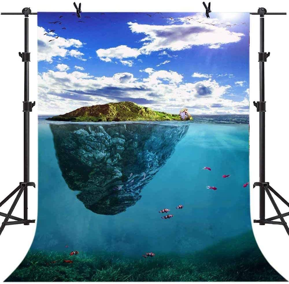 Zhy 7X5FT Snowy Mountain Background Clear Lake Photography Backdrop Nature Scene Photo Backdrop Outdoorsy Travel Theme Party Decor Background Studio Props Mural 003