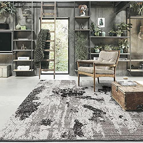 Alfombra alfombras Juveniles para Dormitorio Alfombra de Tinta Negra Gris fácil de Limpiar la Sala de Estar Disponible decoración hogar Alfombra Cocina 180*280cm