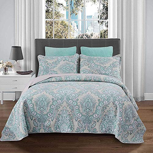 LDDPP Cotton Reversible Quilt Set,washed Cotton Quilted Summer Cool Quilt, 3-piece Bed Cover,complete Comforter Cotton Sheet Bedding Set