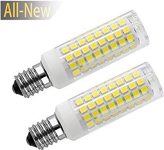 All New E14 LED Light Bulbs Bulbs, E14 LED ScrewBulb 8 Watt Halogen Equivalent 75 W 730 Lumens Daylight 6000K, 102PCS 2835SMD 2 Pack (E14-Cool White)