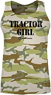 John Deere Camo Tractor Girl Women's Tank Top Green