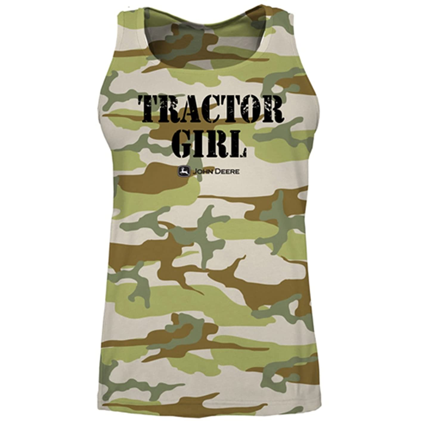 John Deere Camo Tractor Girl Women's Tank Top Green