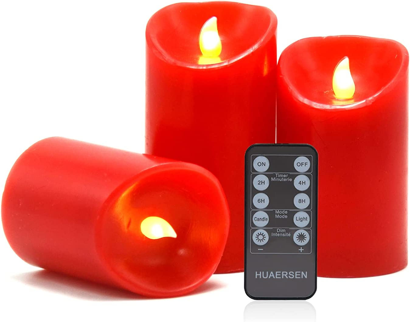 HUAERSEN Flameless LED Candles Battery Operated (3