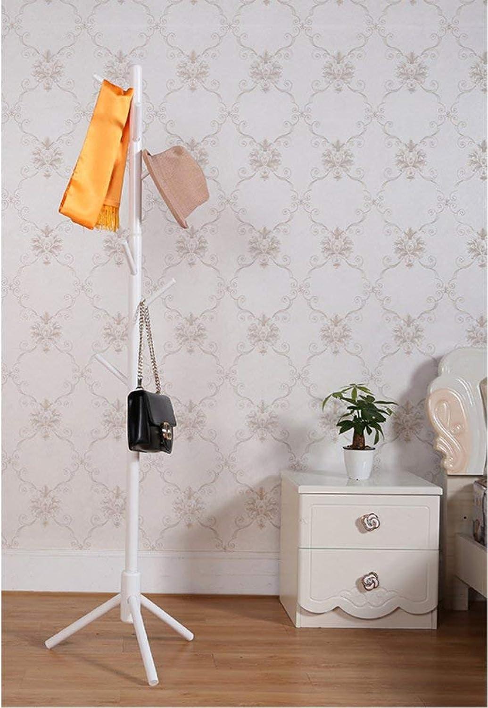 DYR Solid Wood Coat Hanger, Simple European Modern Creative Coat Hanger Floor Hanger Clothes Hanger in The Shape of a Drying Rack-A Diameter 176cm (69 inches)