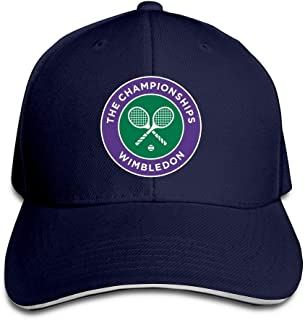 Unisex Fashion Adjustable 2016 Wimbledon Tennis Championships Flex Baseball Caps Sports Outdoors Summer Hat Black