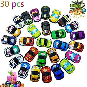 Pull Back Vehicles,30 Pack Friction Powered Pull Back Car Toys  Vehicles and Racing cars Mini Car Toy For Kids Toddlers Boys,Pull Back and Go Car Toy..