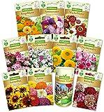N.L.Chrestensen SET 4 Blumenparadies Blumensaatgut, Mehrfarbig