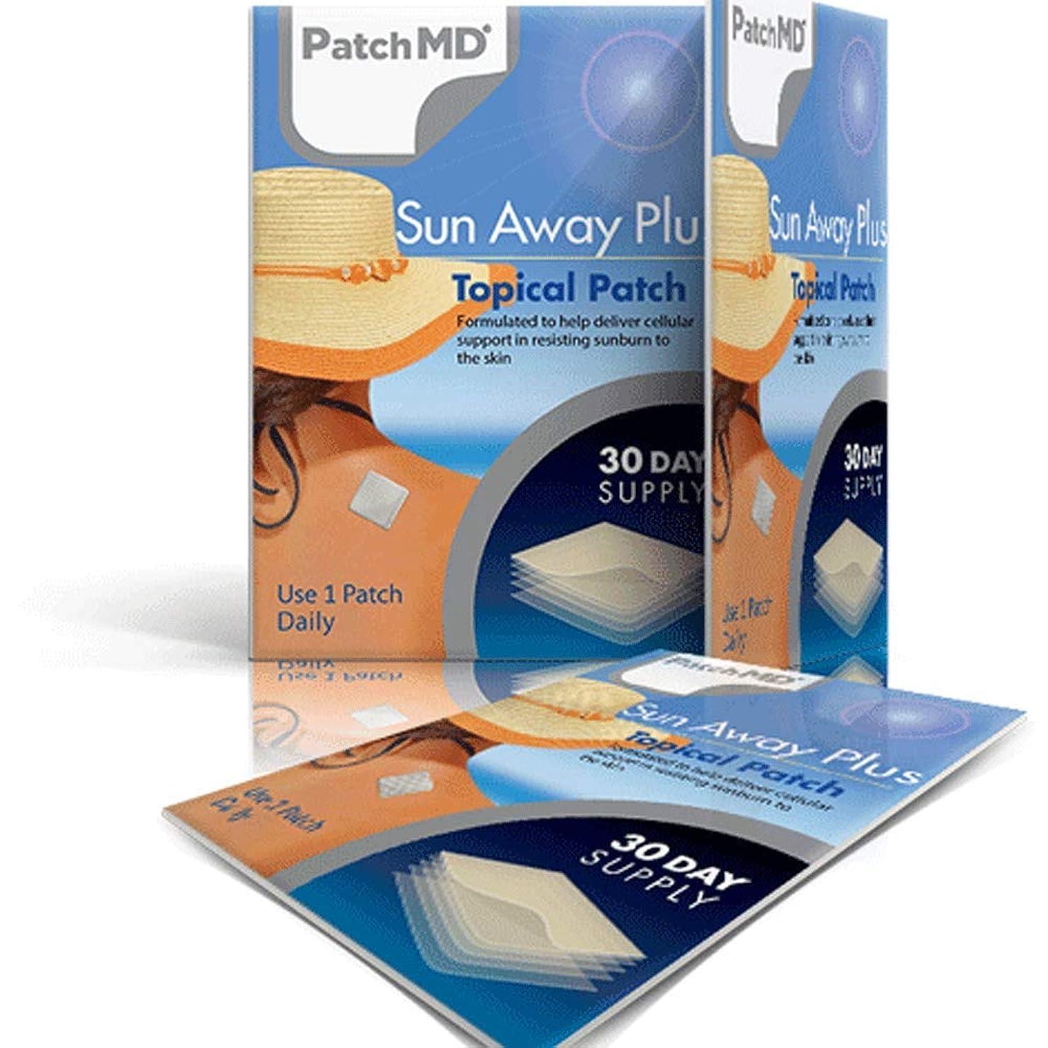 ヒゲクジラ劇場故意にパッチMD サンアウェイプラス 30パッチ 1袋 Sun Away Plus Topical Patch