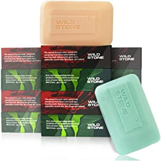 Wild Stone 6 Forest Spice and 6 Ultra Sensual Soap (3+1) Combo Pack of 3 (125 gm each)
