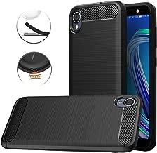 Asus ZenFone Live L1 (ZA550KL) Case, Dretal Carbon Fiber Shock Resistant Brushed TextureAnti-Fingerprint Flexible Soft TPU Phone Protective Cover Case for Asus ZenFone Live L1 (ZA550KL) (Black)