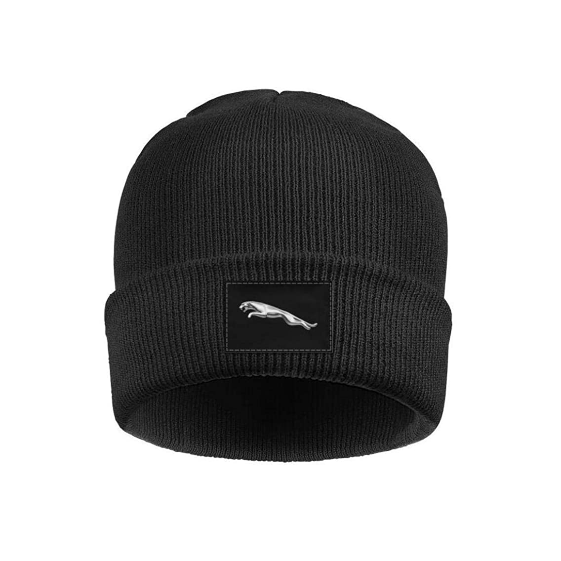 HOIOC Mens Womens Beanie Hats Soft FineAcrylic Winter Warm Jaguar-Logo- Fine Knit
