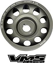 VMS Racing 02-14 Light Weight Billet Aluminum Crankshaft CRANK PULLEY Compatible with SUBARU WRX 2002-2014