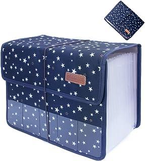 حقيبة منظمة ملف أكسفورد قابلة للتوسيع ذات 13 جيوب من Oak-Pine محفظة ملف A4 قابلة للتوسيع، حقيبة منظمة بملف الأعمال مع ملصق