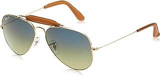 Ray-Ban RB3422Q Craft Outdoorsman II Aviator Sunglasses 58 mm