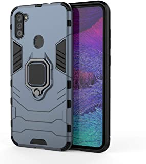 TingYR Case for Samsung Galaxy M21 2021, 360 degree Rotating Ring Holder, TPU/PC Shockproof Phone Cover, Full Body Protect...